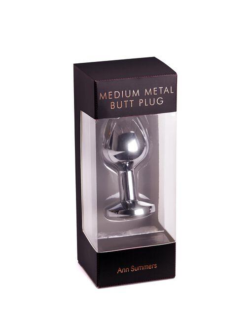 Jewelled Metal Butt Plug image number 5.0