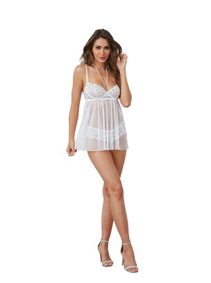 Dreamgirl Pearl Babydoll and G-String Set