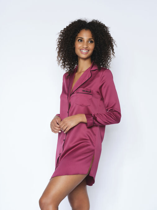 The Girl Boss Satin Nightshirt image number 0.0