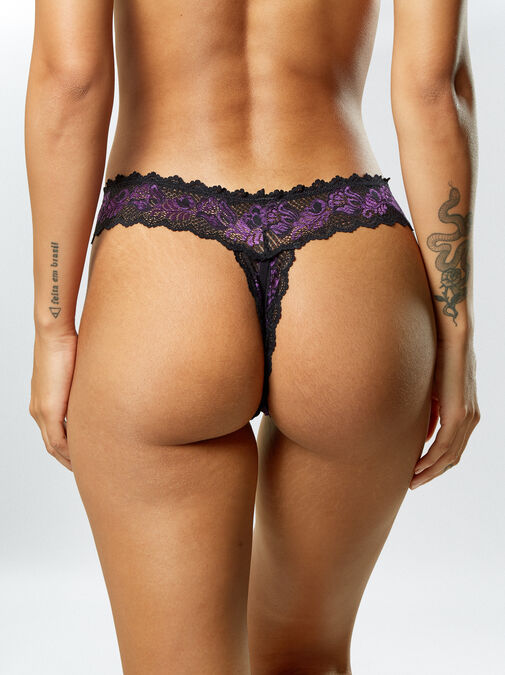 Brielle 3 Pack Crotchless Thong image number 2.0