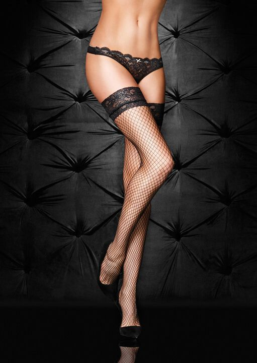 Lace Top Fishnet Hold Up image number 4.0