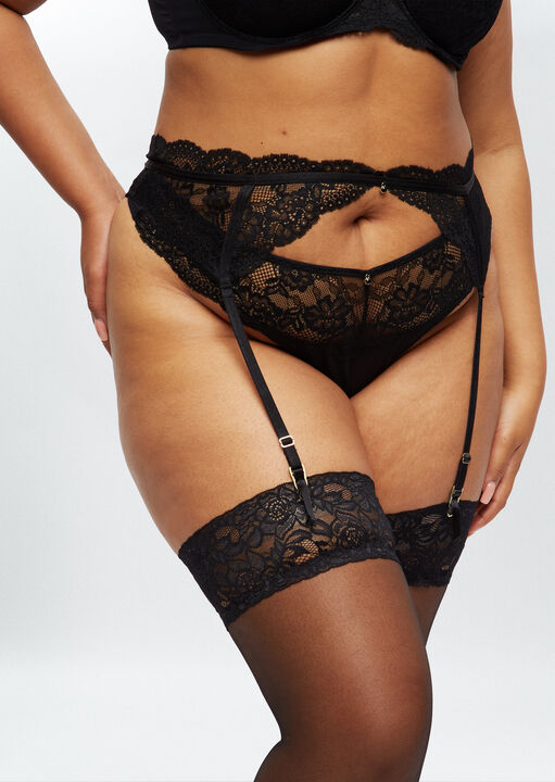 Sexy Lace Sustainable Suspender Belt image number 1.0