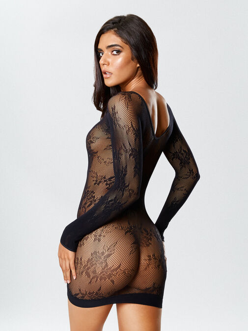 Tyra Reversible Crotchless Bodystocking and Dress image number 1.0