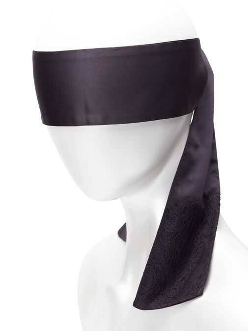 Satin & Lace Blindfold image number 4.0