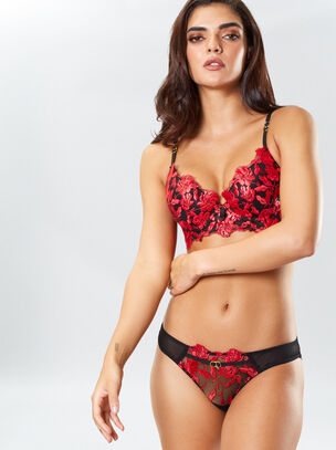Cecile Longline Push Up Plunge Bra