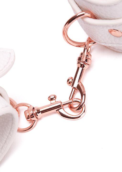 White Faux Leather Bondage Set image number 9.0