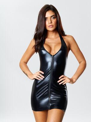 Samra Wet Look Dress