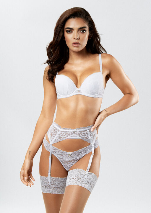 Sexy Lace Push Up Plunge Bra image number 0.0