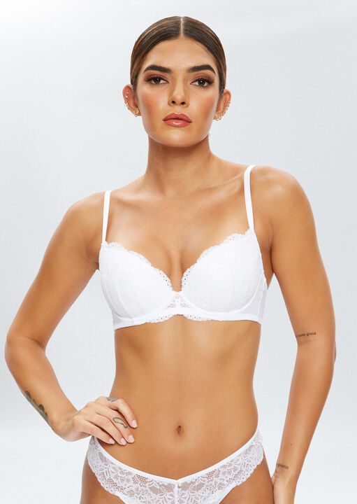 Sexy Lace Sustainable Plunge Bra image number 8.0