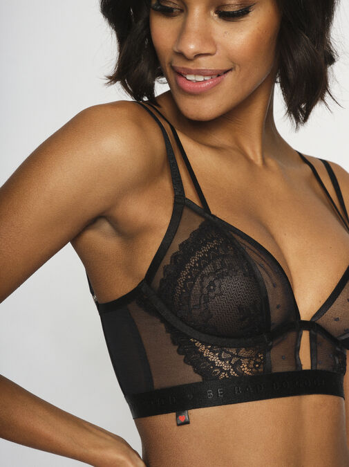 Knickerbox Planet - The Free Spirit Longline Non Padded Bra image number 4.0
