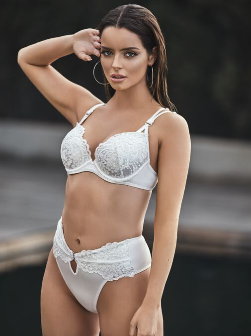 Fiercely Sexy Push Up Plunge Bikini Top image number 1.0