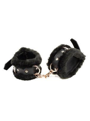 Aphrodisiac Faux Fur Buckle Cuffs