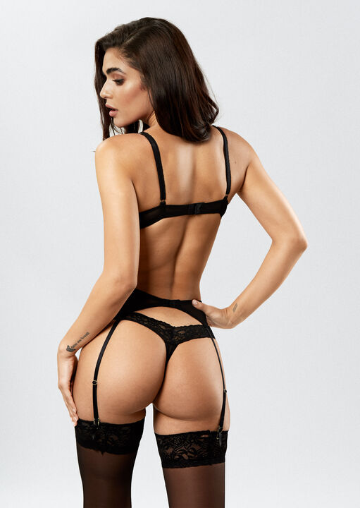 Sexy Lace Suspender Belt  image number 3.0