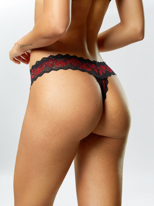 Brielle 3 Pack Crotchless Thong image number 4.0