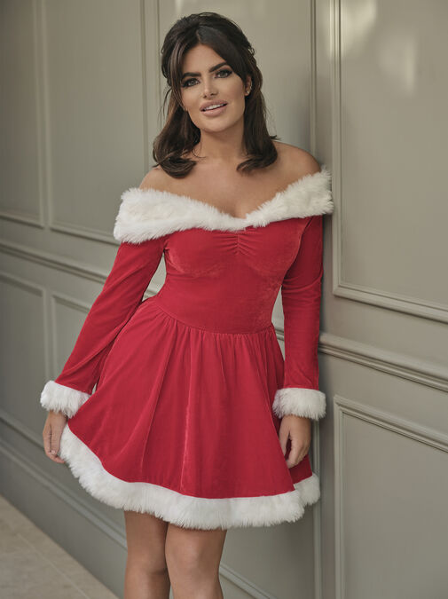 Sexy Miss Santa Dress With Hat image number 0.0
