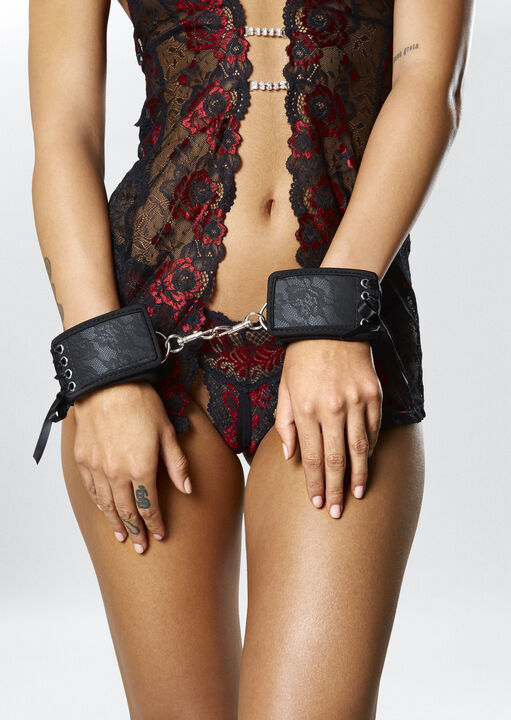 Embossed Lace Ankle & Wrist Cuffs image number 0.0