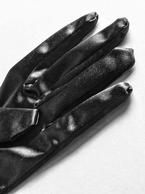 Elbow Length Satin Gloves image number 2.0