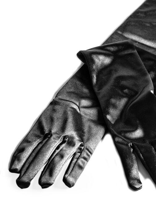 Elbow Length Satin Gloves image number 1.0