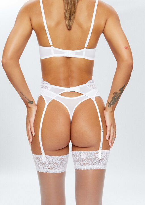 Sexy Lace Sustainable Suspender Belt image number 2.0