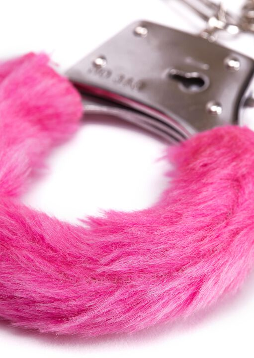 Hot Pink Faux Fur Handcuffs image number 1.0
