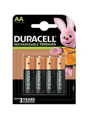 AAx4-1300mah Duracell Rechargable Batteries