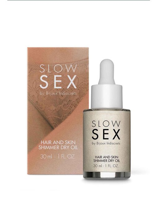 Bijoux Indiscrets Slow Sex Hair And Skin Shimmer Dry Oil image number 0.0