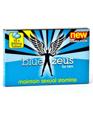 Blue Zeus Sexual Stamina Pill - 10 Pack