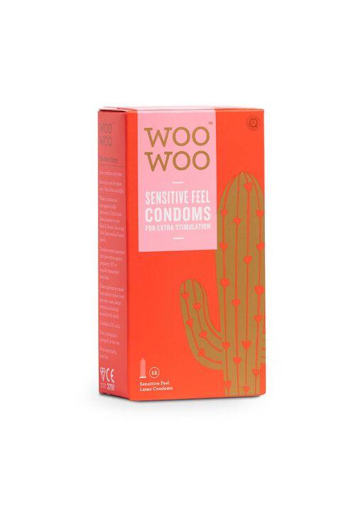 Woo Woo Thin Feel Sensitive Condoms 12 Pack image number 0.0