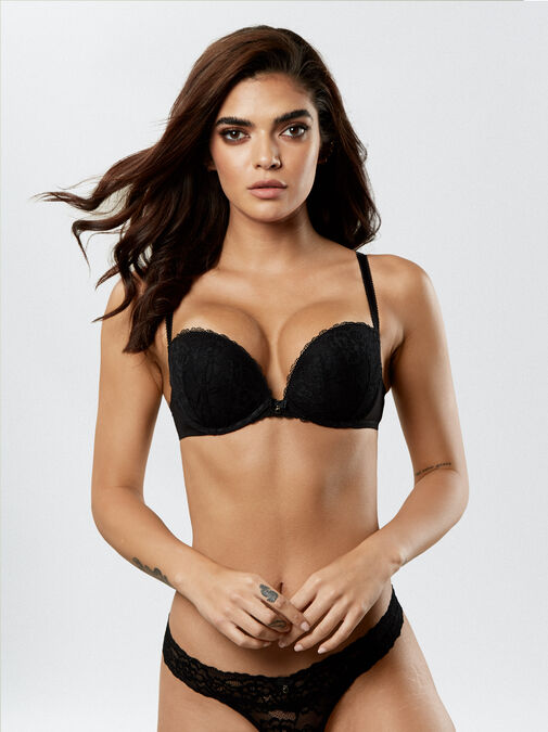 Sexy Lace Push Up Extreme Boost Bra image number 2.0