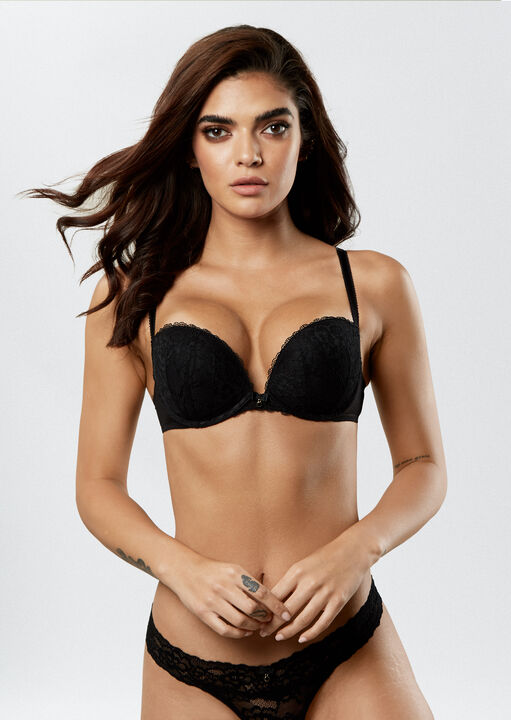 Sexy Lace Push Up Extreme Boost Bra image number 0.0