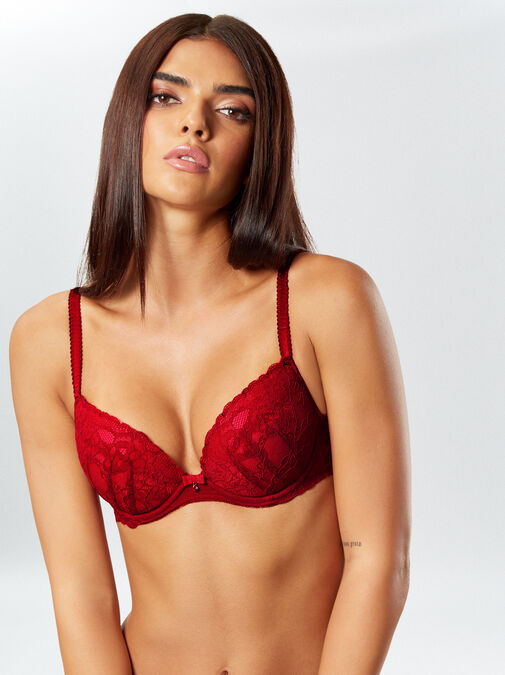 Sexy Lace Plunge Bra image number 3.0
