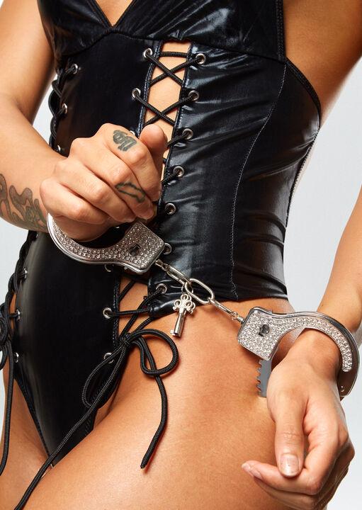 Diamante Metal Cuffs image number 6.0