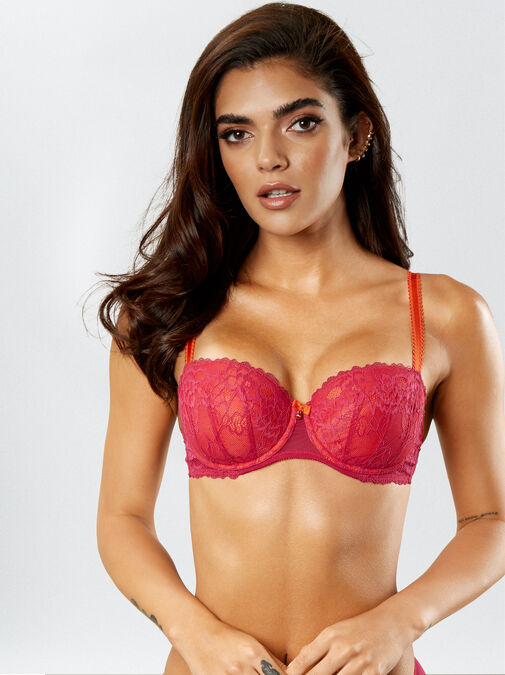 Sexy Lace Balcony Bra  image number 3.0