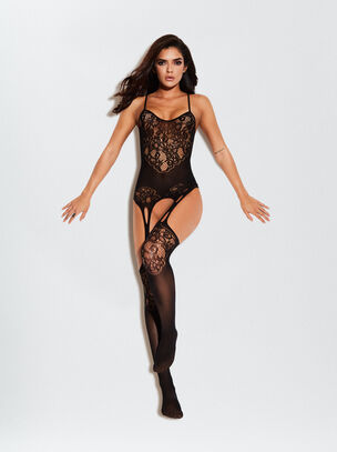 The Flaunted Crotchless Bodystocking