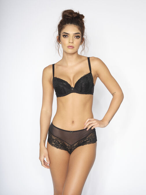 Sexy Lace Crotchless Short image number 2.0