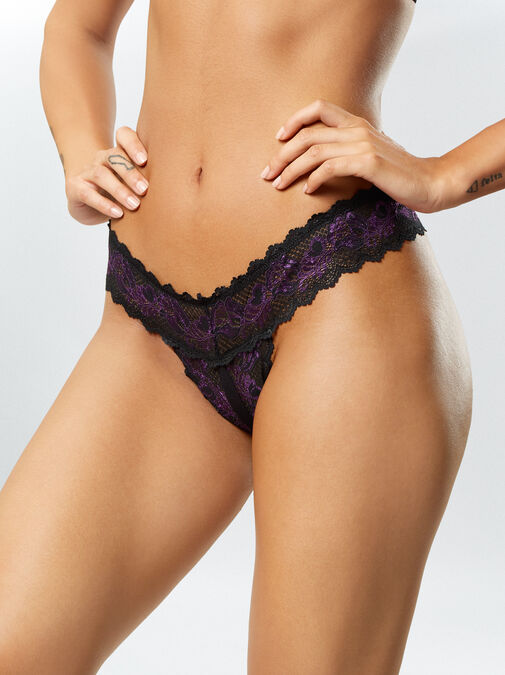 Brielle 3 Pack Crotchless Thong image number 1.0