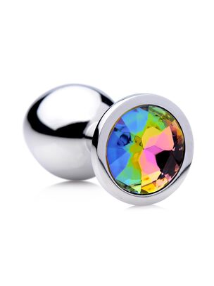Rainbow Prism Gem Medium Anal Plug