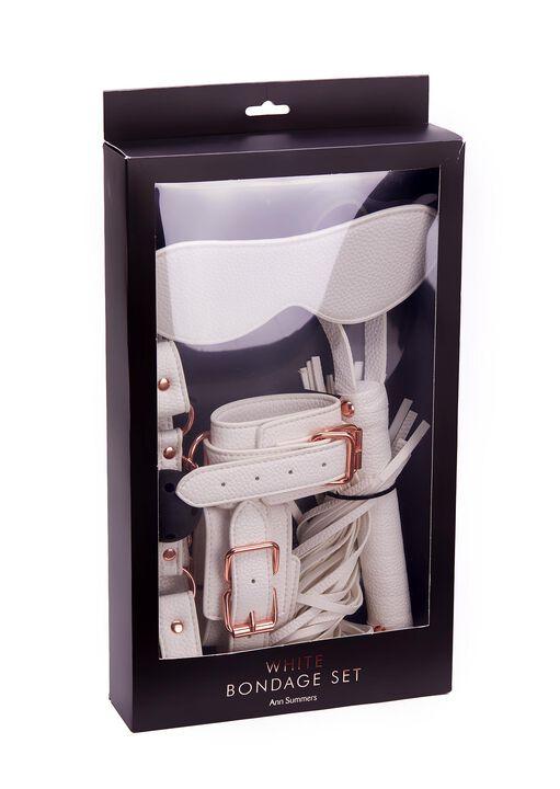 White Faux Leather Bondage Set image number 10.0