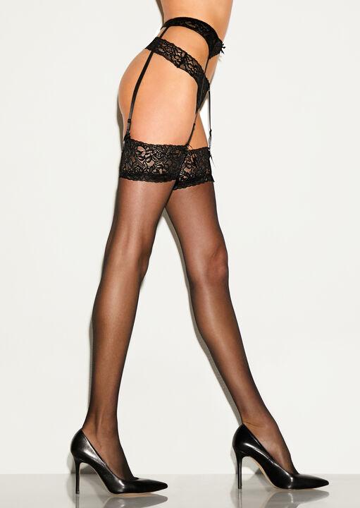 Glossy Stocking & Suspender Set image number 0.0