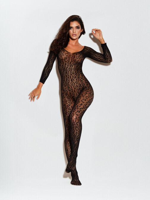 The Wild One Crotchless Bodystocking image number 2.0