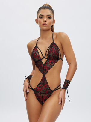 Brielle Crotchless Body and Cuffs
