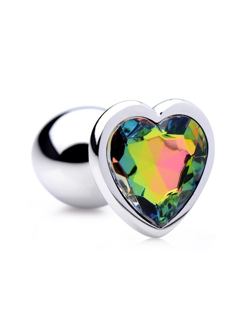 Rainbow Prism Heart Small Anal Plug image number 0.0