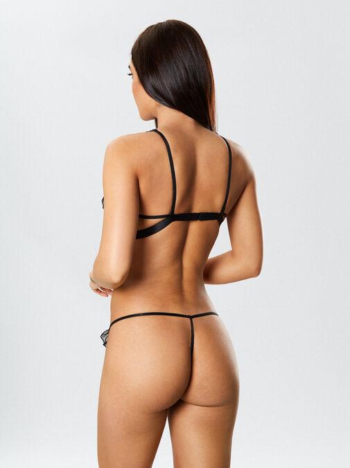 The Flirt Peephole Bra and Thong Set image number 8.0