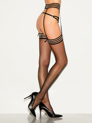 Fashion Stocking & Suspender Set