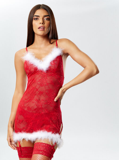 Sexy Miss Santa Chemise image number 0.0