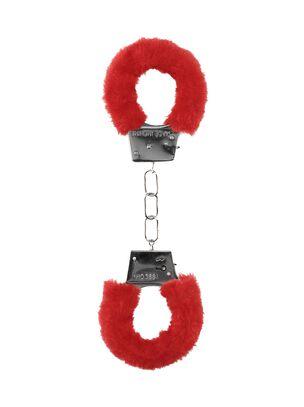 Red Faux Fur Handcuffs