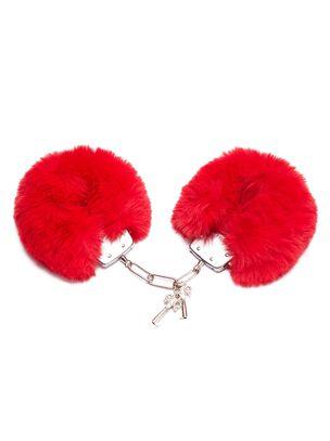 Plush Red Faux Fur Cuffs
