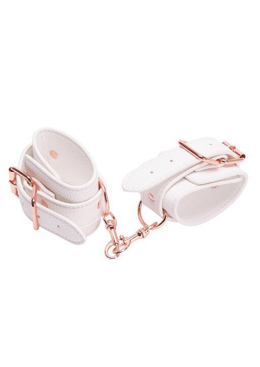White Faux Leather Bondage Set image number 8.0