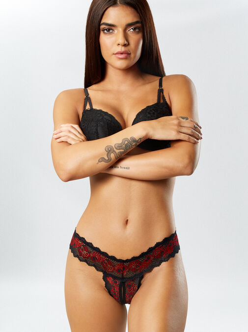 Brielle 3 Pack Crotchless Thong image number 6.0