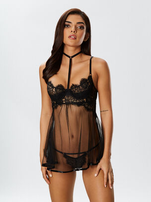 The Adrijana Babydoll and String Set